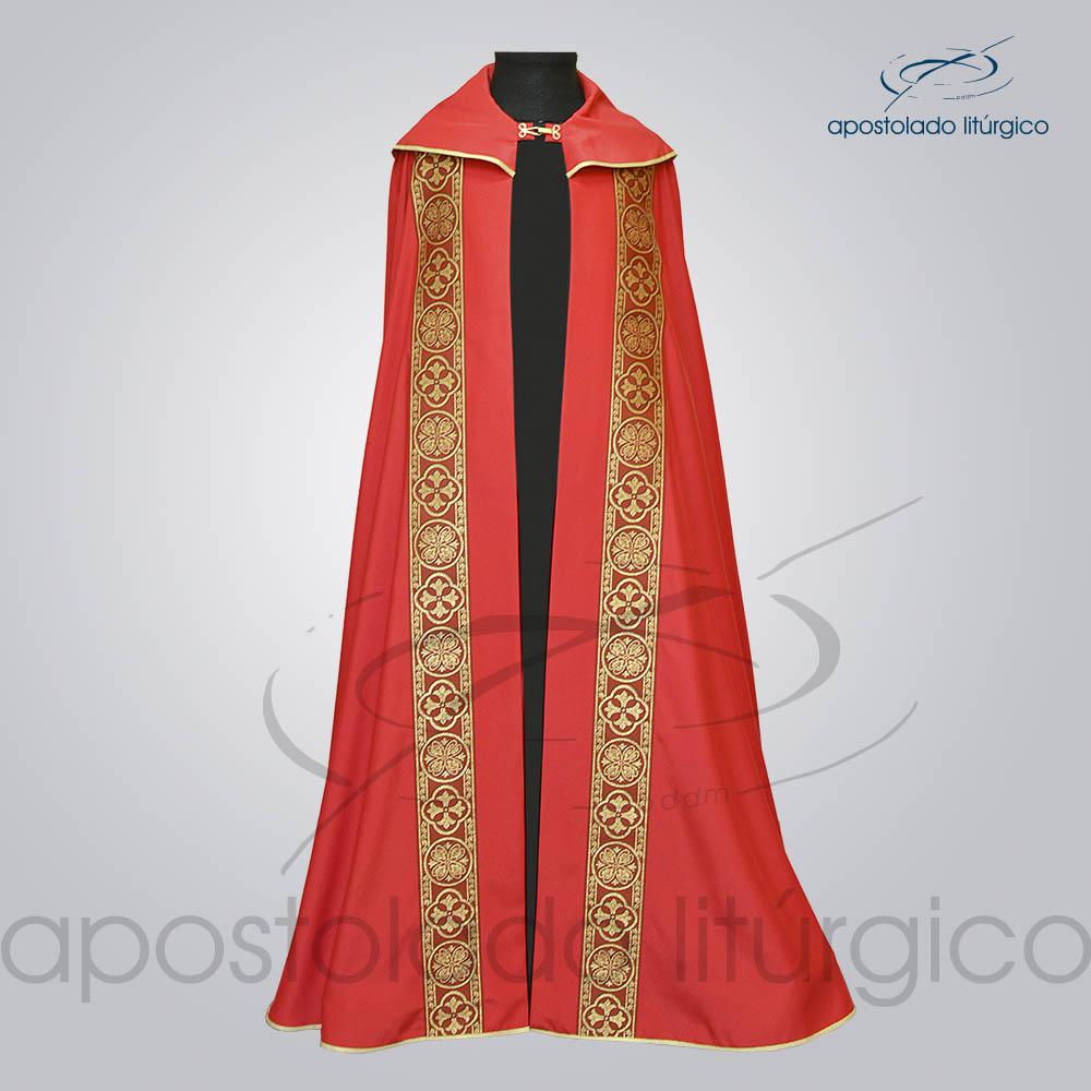 Capa de Bencao Crepe Seda Galao Largo N 10 vermelho Vermelha Frente 2 COD 1153 | Apostolado Litúrgico Brasil