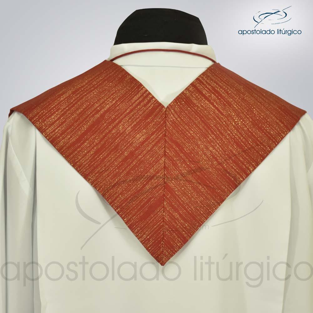Estola Ravena Vermelho Presbiteral Costa | Apostolado Litúrgico Brasil