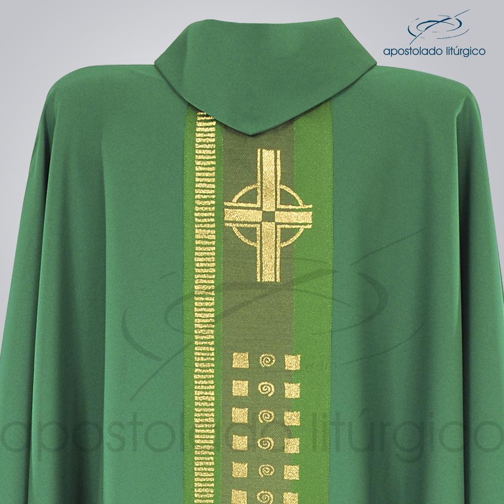 Casula Oxford Galão Cruz A Verde Costas Busto | Apostolado Litúrgico Brasil