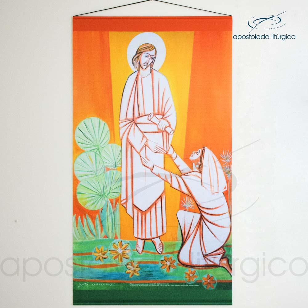 Banner Maria Madalena com Jesus no Jardim