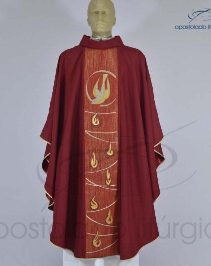 Casula Shantung Espírito Santo Vermelha